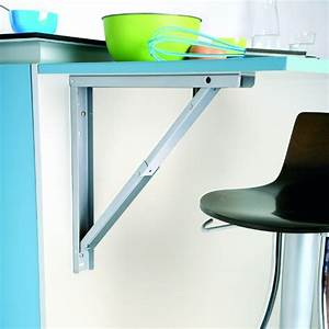 support de table rabattable aluminium sokleo oskab With plan de travail cuisine rabattable