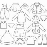 Coloring Clothing Clothes Clothesline Pages Kid Surfnetkids Templates Shoes Template sketch template