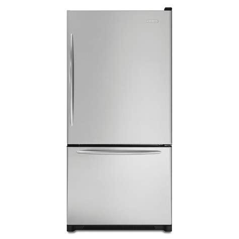 kitchenaid refrigerator drawers kitchenaid kbrs19kt 18 5 cu ft bottom freezer