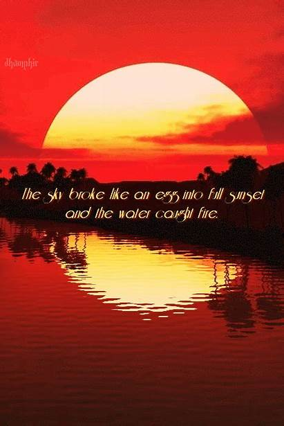 Fire Sunset Water Sky Egg Caught Into