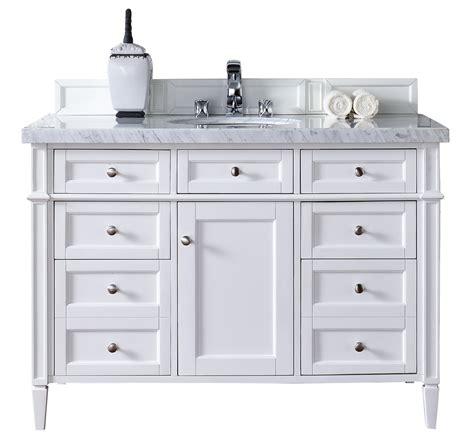 contemporary 48 inch single bathroom vanity white finish