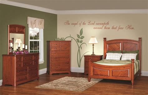 american  rustic cherry bedroom furniture set