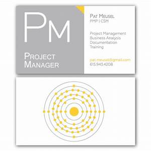 Business cards for Project manager business card