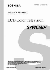 Toshiba 37wl58p Lcd Tv Sm Service Manual Download