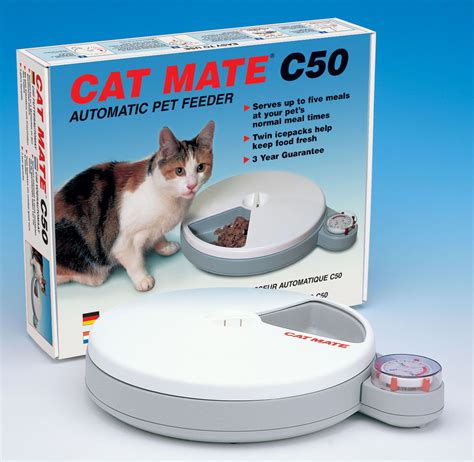 timed cat feeder cat mate c50 automatic pet feeder