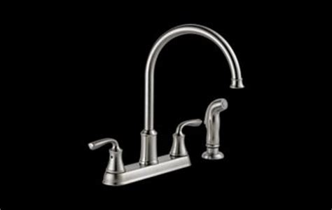 21716lf ss lorain 174 two handle kitchen faucet with spray