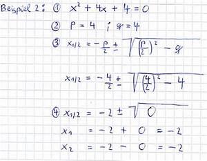 0 Stellen Berechnen : pq formel f r quadratische gleichungen ~ Themetempest.com Abrechnung