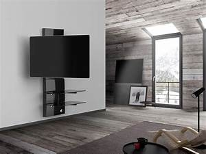 Support Mural Tv Orientable : meliconi ghost design 3000 r noir supports tv ~ Melissatoandfro.com Idées de Décoration