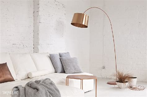 Copper Floor Lamps And Pink Details