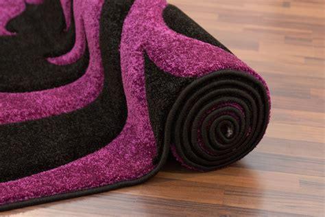 tapis noir et violet tapis moderne noir et violet 160x230 cm