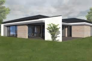 maison bois plain pied contemporaine maison ossature bois plain pied