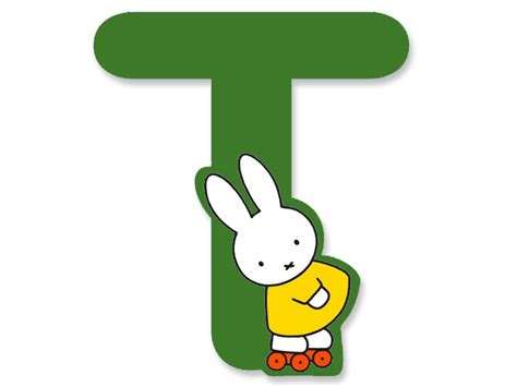 A To Z Miffy Wooden Letter