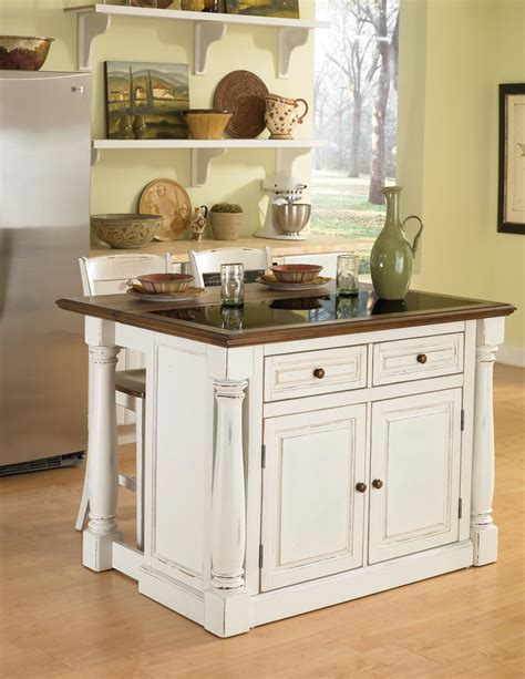 granite topped kitchen island home styles monarch granite top kitchen island with two