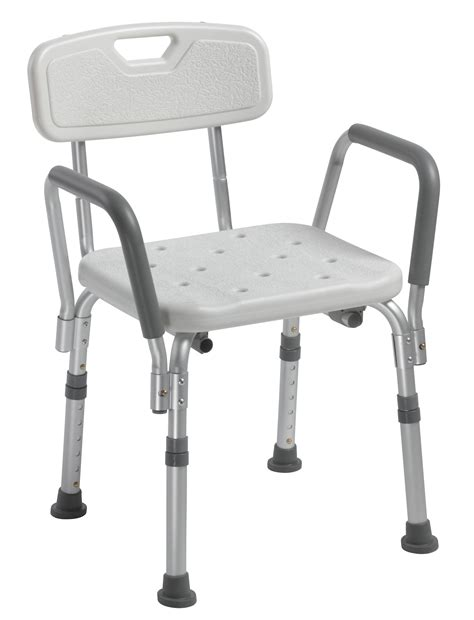 shower chair with back and removable padded arms drive