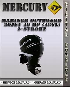 Mercury Mariner Outboard 30jet 40 Hp  4cyl  2