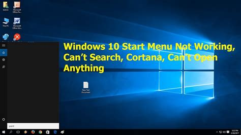 how to fix windows 10 start menu not working can t search cortana can t open anything