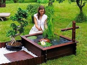 Deco Jardin Pas Cher : bassins de jardin design et pas cher en bois deco ~ Premium-room.com Idées de Décoration