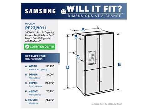 samsung cabinet depth refrigerator dimensions 23 cu ft counter depth 4 door flex refrigerator with