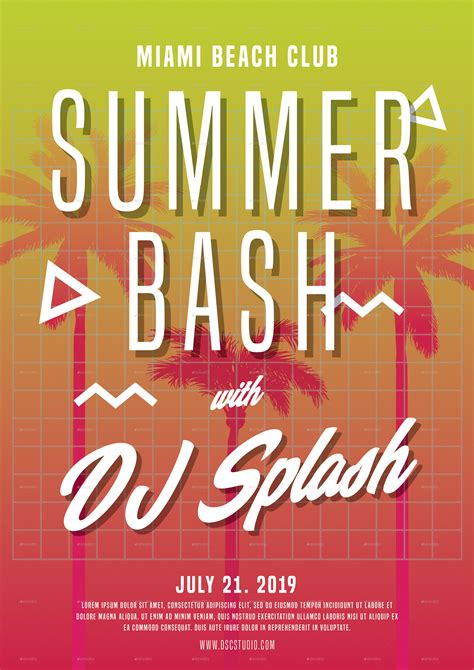 summer bash party flyer  dscstudio graphicriver