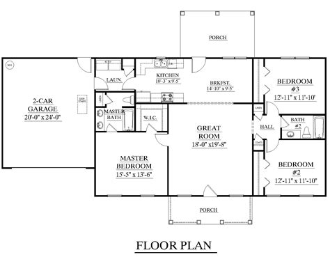 great room house plans one houseplans biz house plan 1500 b the b