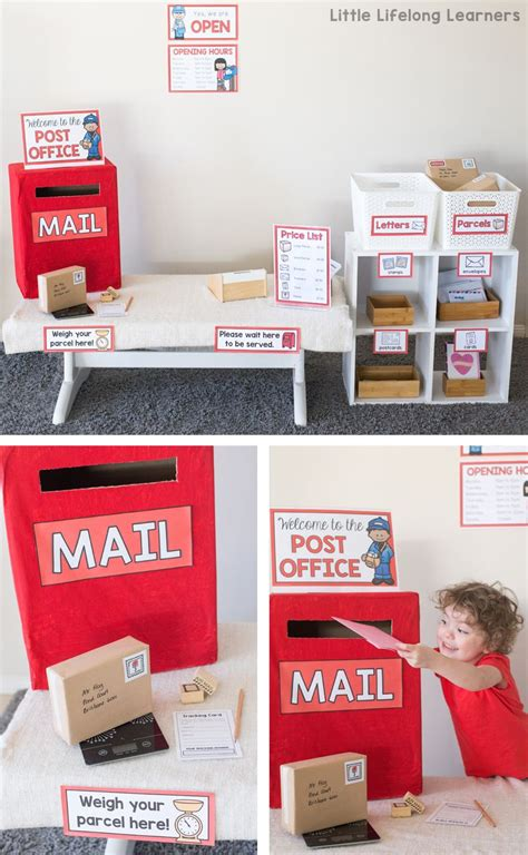 post office dramatic play area  day  dramatic play