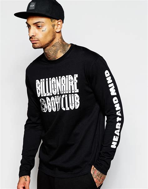 Print Sleeve Shirt lyst billionaire boys club sleeve t