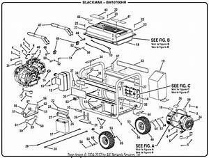 Homelite Bm10700hr 7000 Watt Generator Parts Diagram For