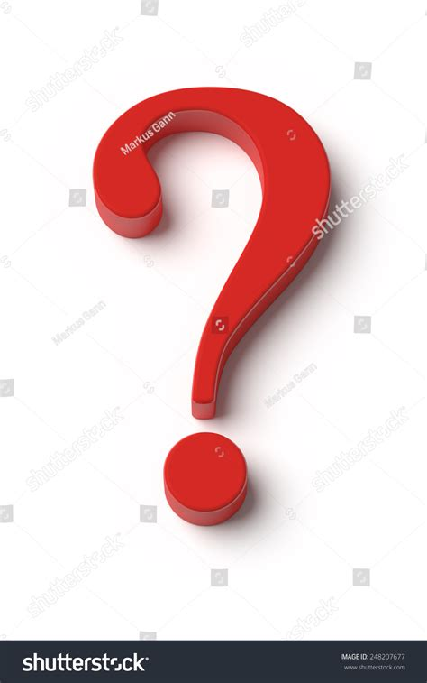 Image Red Question Mark Top View Stock Illustration