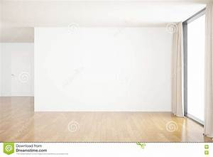 Blank wall in room stock illustration. Image of interior ...