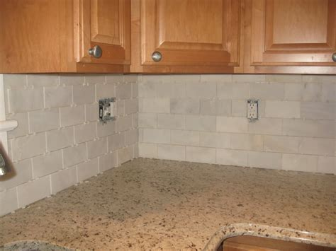 Marble Subway Tile Kitchen