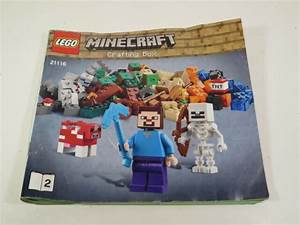 Lego 21116 Minecraft Crafting Box Manual Instructions Only