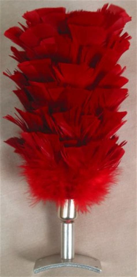 red horse plume  bridle attachment