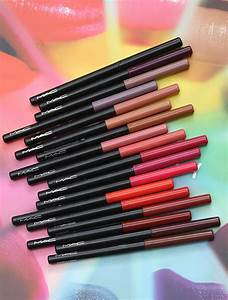 Swatches of the MAC Liptensity Lip Pencils, Available Now ...