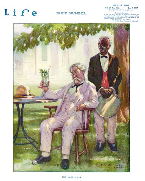 Life Magazine Cover 1919 Strothman The Last Julep