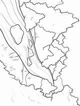 River Coloring Fluss Ausmalbilder Nature Country Ausdrucken Malvorlagen Kostenlos Zum sketch template