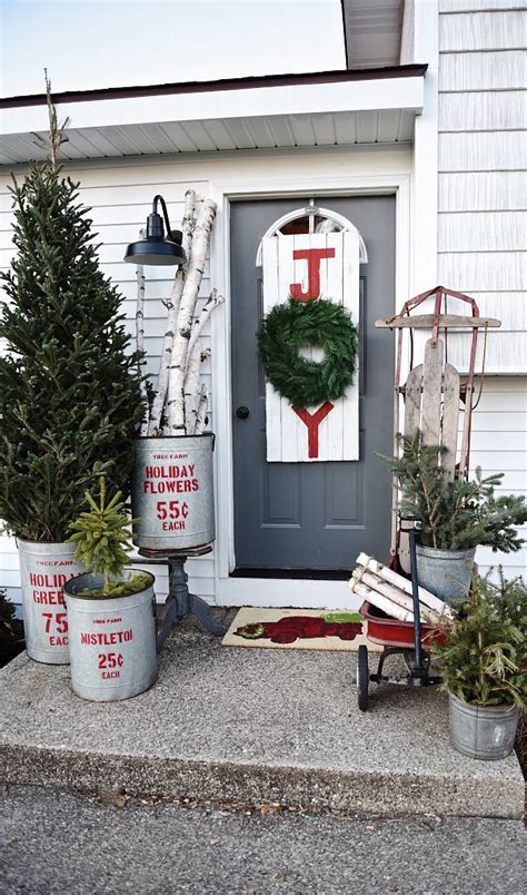 rustic christmas porch liz marie blog