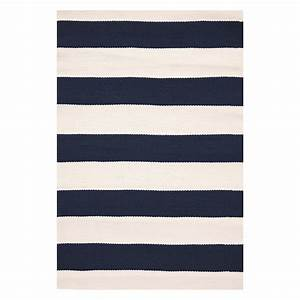 buy dash albert catamaran stripe rug navy 122x183cm With balkon teppich mit tapete streifen beige