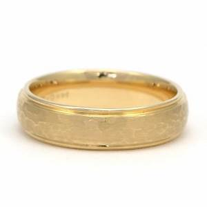Hammered Yellow Gold Men39s Wedding Ring Wixon Jewelers