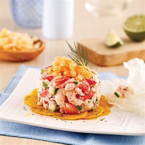 cuisine nordique recettes tartare de crabe et crevettes nordiques recettes
