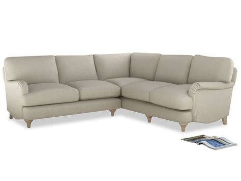 Leather Corner Sofa Brown Positano