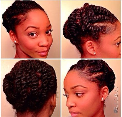 Twisted updo protective style   Hairstyle for black women