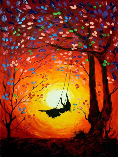 girl play   swing nice pics   painting