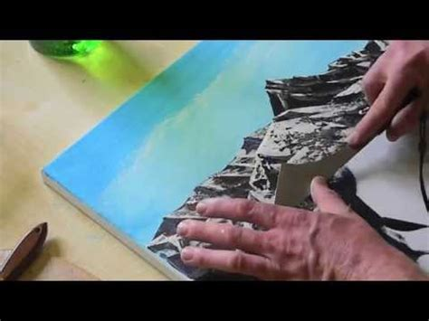 malen spachteln mit acryl auf leinwand youtube