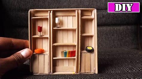 dollhouse miniature furniture diy bookcase popsicle