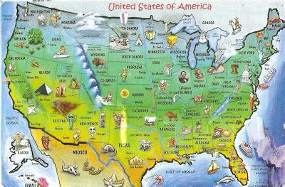 postcard  la carte united states  america map postcards