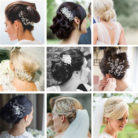 wedding bun hairstyles hair accessories blog