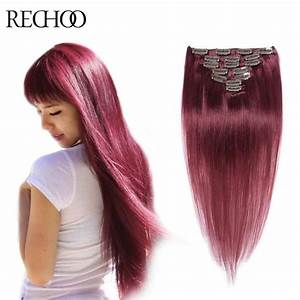 Virgin Peruvian Clip In Hair Extensions 120G Human Remy