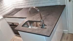 Béton Ciré Sur Plan De Travail : beton cire plan de travail cuisine digpres ~ Nature-et-papiers.com Idées de Décoration