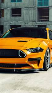 Download 2160x3840 wallpaper yellow ford mustang gt, 2020, 4к, sony xperia z5 premium dual ...