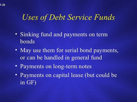 Define Bond Sinking Fund Accounting by Chapter 5 Accounting For Other Government Fund Types